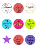Stickers / Motivational Phrases for Students / Spanish