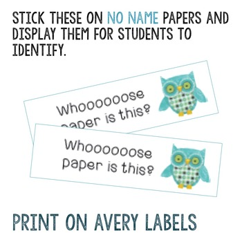 No Name Stickers works with Avery labels 80 per page
