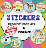 Stickers behavior incentive & reward FREEBIE