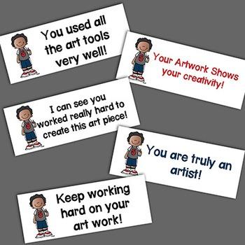Art Feedback! 10 Printable Labels