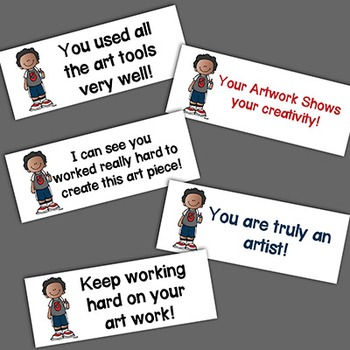 Stickers for Art Feedback! Printable on Labels