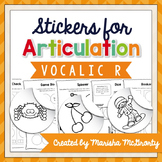 Interactive Articulation Stickers {Vocalic R}