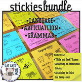 Bundle: Sticky Notes for Language, Articulation, Grammar