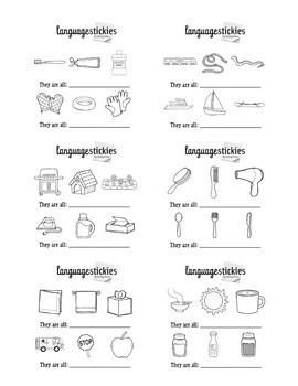 Bundle: Sticky Notes for Language, Articulation, Grammar