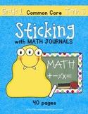 Sticking With Math Journals - Grade 1 -Term 3