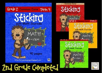Sticking with Math Journals BUNDLE Grade 2