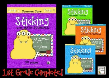 Sticking with Math Journals BUNDLE Grade 1