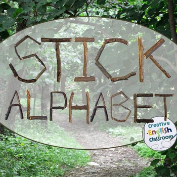 Sticks and Branches Alphabet Clip Art for a Rustic Woods Theme