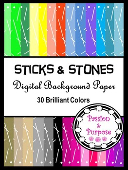 Sticks and Stones - Digital Background Paper