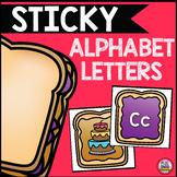 Sticky Alphabet Letters