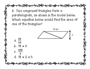 Sticky Geometry (Triangles, Area of Quads. & Triangles, Volume)