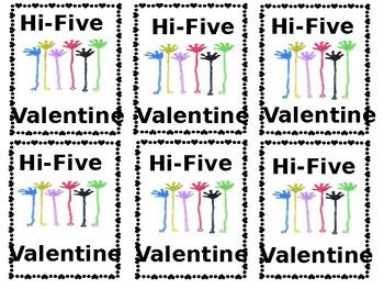 Sticky Hand Valentine Cards: Hi-Five Valentine!