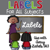 Labels for All Subjects