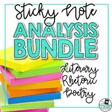 Sticky Note Analysis Bundle: Literary, Rhetoric, Poetry