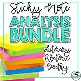 Sticky Note Analysis Bundle: Literary, Rhetoric, Poetry