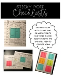 Sticky Note Assignment Checklist {Editable}