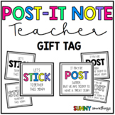 Sticky Note Back to School Teacher Gift Tags