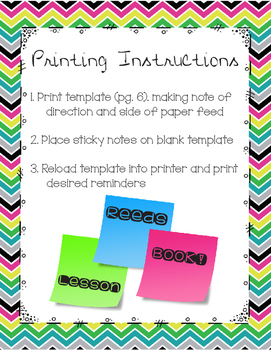 Sticky Note Band Reminders {Post-It Note Printable}