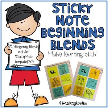 Sticky Note Beginning Blends