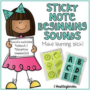 Sticky Note Beginning Sounds