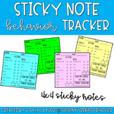 Sticky Note Behavior Trackers