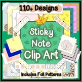 Sticky Note Clip Art Collection - 110+ Designs - Blank for Adding Text