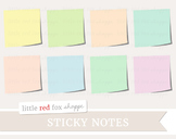 Sticky Note Clipart; Office Supplies, Paper