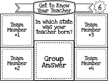 Sticky Note Collaboration Game: Back to School (Get to Know Your Teacher)