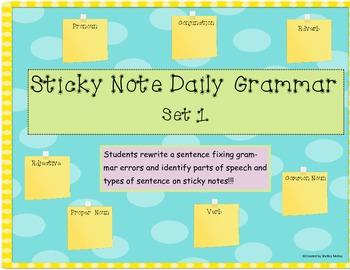 Sticky Note Daily Grammar - Set 1