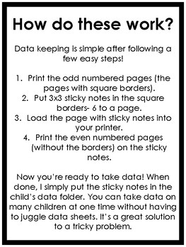Sticky Note Data Collection