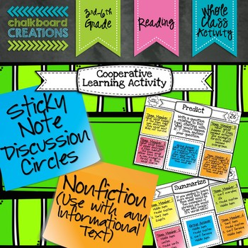 Sticky Note Discussion Circles: Nonfiction (For Any Inform