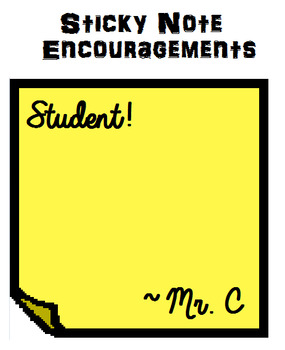 Sticky Note Encouragements