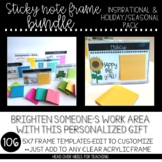 Sticky Note Frames BUNDLE (Inspirational & Holiday/Seasonal Pack) 5x7