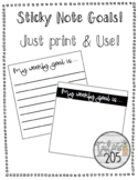 Sticky Note Goal Templates