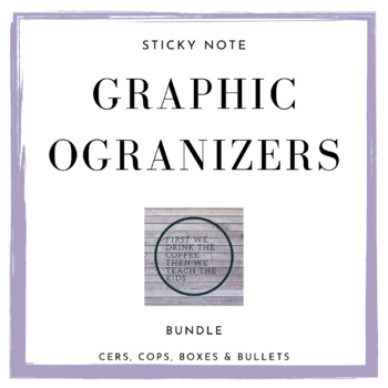 Sticky Note Graphic Organizers Bundle