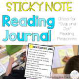 """Sticky Note Journals - A tool for """"stop & jot"""" Reading Responses!"""