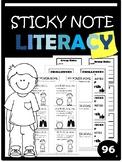 EDITABLE Sticky Note Literacy