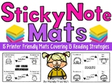 Sticky Note Mats with Reading Strategies