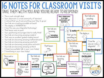Sticky Note Messages for Instructional Coaches and Administrators