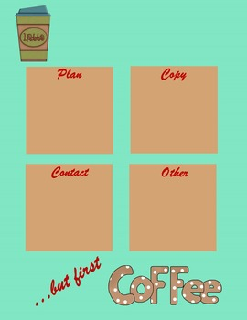 Sticky Note Planner Coffee Themed