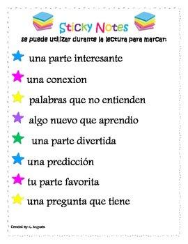 Sticky Note Poster SPANISH