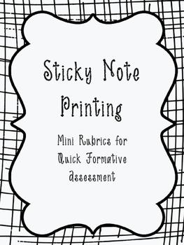 Sticky Note Printable Rubics