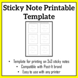 Sticky Note Printable Template