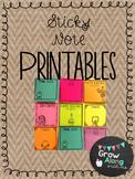 Sticky Note Printables