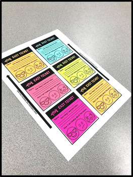 Sticky Note Printables - Exit Tickets - Incentive Charts - Teacher Reminders