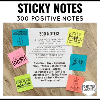 Positive Sticky Notes for the Year