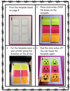 Sticky Note Readers Response - Think Marks and More