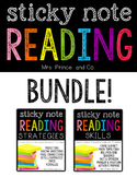 Sticky Note Reading BUNDLE! {Strategies pack AND Skills pack}