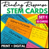 Reading Response Stem Cards Set 1