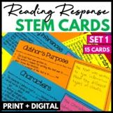Reading Response Stem Cards Set 1
